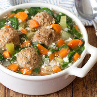 Hungry Girl's Healthy Italian Wedding Soup with Cauliflower Rice Recipe