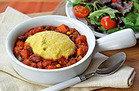 Cornbread-Topped Dan-Good Chili