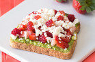 Strawberry-Feta Avocado Toast
