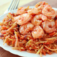 Hungry Girl's Healthy Dinner Recipes with Five Ingredients or Less: Shrimp 'n Slaw Marinara