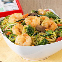 Lower-Carb Dinner Recipes: Zucchini-Noodle & Shrimp Stir-Fry