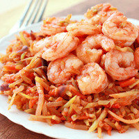 Healthy One-Pot Recipe to Make for Dinner Tonight: Shrimp 'n Slaw Marinara