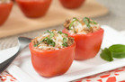 Chicken Bruschetta Stuffed Tomatoes