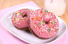 Frosted & Sprinkled Chocolate Donuts