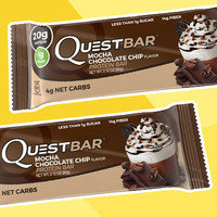 Quest Bar Mocha Chocolate Chip Flavor Protein Bar