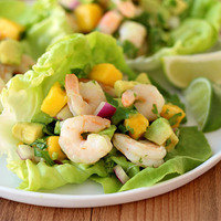 All-Natural Recipes: Shrimp & Avocado Lettuce Tacos