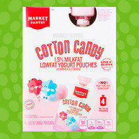Market Pantry Cotton Candy 1.5% Milkfat Lowfat Yogurt Pouches