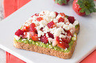 Healthy Hungry Girl Low-Sugar Recipes: Strawberry-Feta Avocado Toast