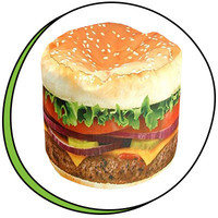 Cute Food-Themed Items: Wow! Works Hamburger Junior Beanbag Chair