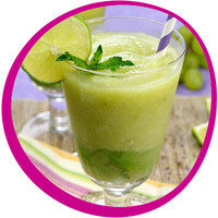 Low-Calorie Summer Cocktail: Green Grape Frojitos