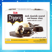 Hungry Girl's Frozen Dessert Finds: Dole Dippers Dark Chocolate Covered Real Banana Slices