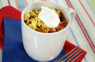 Hungry Girl Pre-Cooked Chicken Meal: Chicken Fajita Scramble Mug