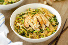 Easy-Peasy Peanut Zucchini Noodles with Chicken