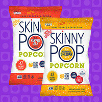 Skinny Pop Popcorn in Pepper Jack and Aged White Cheddar