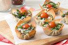 HG Muffin-Pan Recipe: White Pizza Wonton Crunchers