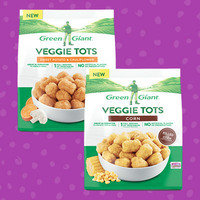 Green Giant Veggie Tots in Corn and Sweet Potato & Cauliflower