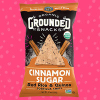 Lundberg Family Farms Organic Grounded Snacks Cinnamon Sugar Red Rice & Quinoa Tortilla Chips