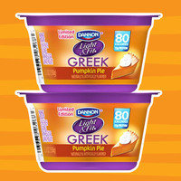 Healthy Pumpkin Products for 2017: Dannon Light & Fit Greek Pumpkin Pie Yogurt