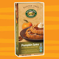 Healthy Pumpkin Products for 2017: Nature's Path Organic Gluten Free Pumpkin Spice Frozen Waffles