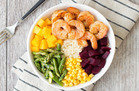 Hungry Girl Veggie Swap: Shrimp 'n Veggie Power Bowl