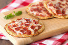 HG Comfort Food Hacks: Cutie-Pie Cauliflower-Crust Pepperoni Pizzas