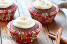 Gooey Gingerbread Cupcakes