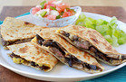 Healthy Foods That Supersize: Steak & Mushroom Quesadilla