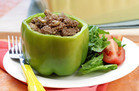 Healthy Foods That Supersize: Philly Cheesesteak Stuffed Peppers