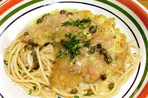 Chicken Piccata with Spaghetti, Average