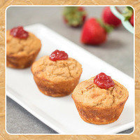 Healthy HG Peanut Butter Recipe: PB&J Protein Muffins