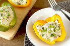 Veggie-Based Carb Swap: Cheesy Faux-sotto Stuffed Peppers