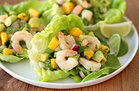 Veggie-Based Carb Swap: Shrimp & Avocado Lettuce Tacos