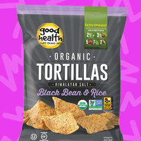 Good Health Organic Black Bean & Rice Tortillas with Himalayan Salt