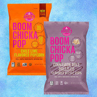 Angie's Boomchickapop Cinnamon Roll Drizzled Flavored Kettle Corn and Chile Lime Flavored Popcorn