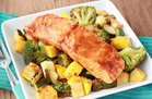 Hungry Girl's Healthy Single-Serve Recipes: Spicy BBQ Salmon & Veggies