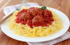 Hungry Girl's Healthy Single-Serve Recipes:Speedy Spaghetti Squash and Meatballs