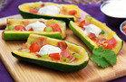 Healthy Cheesy Zucchini Skins Recipe