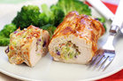 Hungry Girl's Healthy Cheesy BBQ Chicken Rollups Recipe
