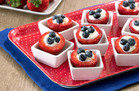 Hungry Girl's Healthy Red, White & Blue Stuffed Strawberries Recipe