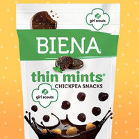 Biena Girl Scouts Thin Mints Chickpea Snacks