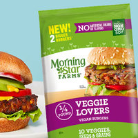 MorningStar Farms 1/4 Pound Veggie Lovers Vegan Burgers