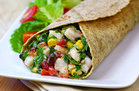 Hungry Girl's Healthy Mexi' Shrimp Salad Wrap Recipe
