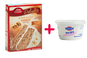 Cake Mix + Greek Yogurt