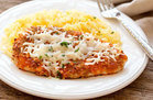 Buffalo Chicken Parm with Spaghetti Squash