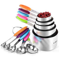 U-Taste 10-Piece Measuring Cups and Spoons Set in 18/8 Stainless