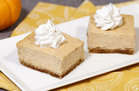 Hungry Girl's Healthy The Great Pumpkin Cheesecake Bars Recipe
