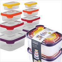 Joseph Joseph Nest Storage Plastic Food Storage Containers Set with Lids (16 piece)