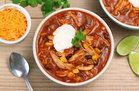 Hungry Girl's Healthy Slow-Cooker Chicken Enchilada Soup Recipe