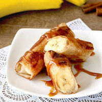 Hungry Girl's Healthy Banana Caramel Egg Rolls Recipe