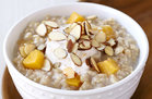 Hungry Girl's Healthy Peaches 'n Cream Growing Oatmeal Recipe